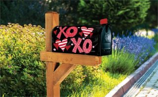 Hugs & Kisses Mailbox Cover | Mailbox Covers | Mailwraps | Mailbox Wrap