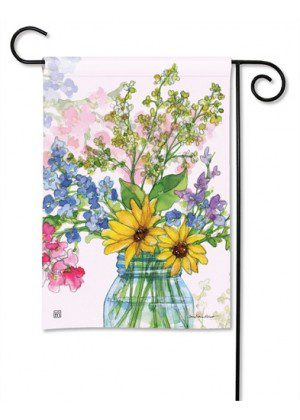 Jars of Sunshine Garden Flag | Floral Flags | Spring Flag | Yard Flags