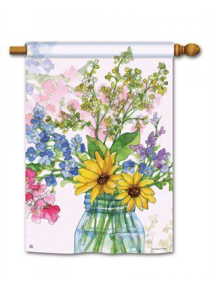 Jars of Sunshine House Flag | Spring Flags | Floral Flags | Yard Flags