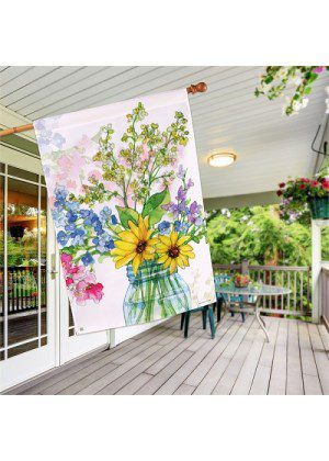 Jars of Sunshine House Flag   Spring Flags   Floral Flags   House Flags