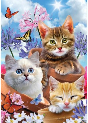 Kittens & Flowers Flag | Summer Flags | Wildlife Flags | Cool Flags | Flags
