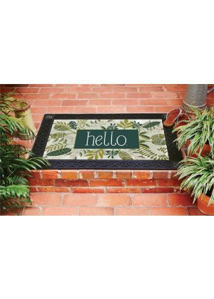 Leafy Hello Doormat | Decorative Doormats | Doormats | MatMates