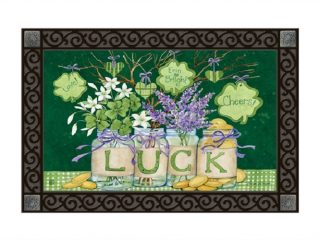 Lucky Shamrocks Doormat | Doormats | St. Patrick's Day Doormats