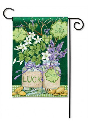 Lucky Shamrocks Garden Flag | St. Patrick's Day Flags | Yard Flags