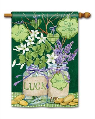 Lucky Shamrocks House Flag | St. Patrick's Day Flags | Yard Flags