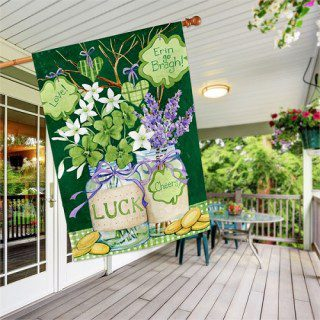 Lucky Shamrocks House Flag | St. Patrick's Day Flags | Cool Flags