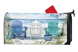 Ocean View Mailbox Cover | Mailbox Covers | Decorative MailWraps