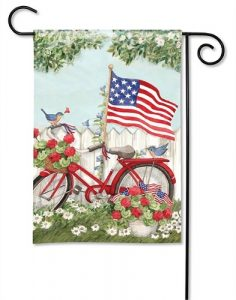 Patriotic Bike Garden Flag | Patriotic Flags | 4th of July Flag | Summer Flag