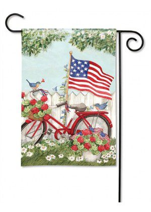 Patriotic Bike Garden Flag | Patriotic Flags | 4th of July Flags| Yard Flags
