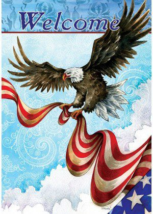 Patriotic Eagle Flag | 4th of July Flags | Patriotic Flags | Welcome Flags