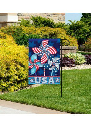 Patriotic Pinwheels Garden Flag | Patriotic Flags | 4th of July Flags | Flags