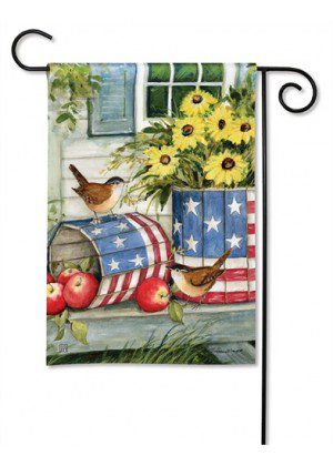 Patriotic Planters Garden Flag | Patriotic Flags | 4th of July Flag | Yard Flag