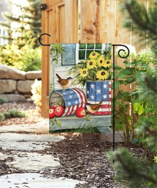 Patriotic Planters Garden Flag | Patriotic Flags | 4th of July Flag | Cool Flag