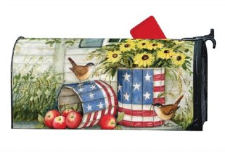 Patriotic Planters Mailbox Cover | Mailbox Covers | Decorative Mailwraps