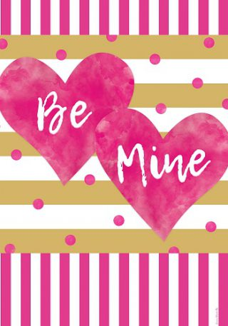 Pink & Gold Hearts Flag | Valentine's Day Flag | Double Sided Flags | Flag