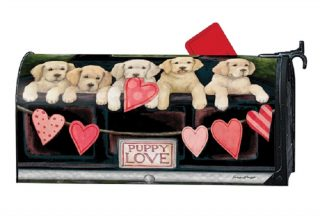 Puppy Love Mailbox Cover | Mailbox Covers | Decorative Mailwraps
