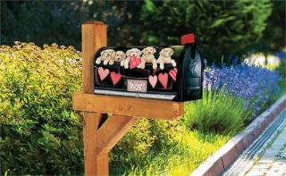 Puppy Love Mailbox Cover | Mailbox Covers | Mailwraps | Mailbox Wraps