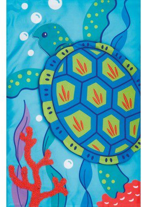 Sea Turtle Applique Flag | Applique Flags | Double Sided Flags | Flags