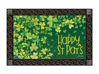 Shamrock Shower Doormat | Doormats | St. Patrick's Day Doormats