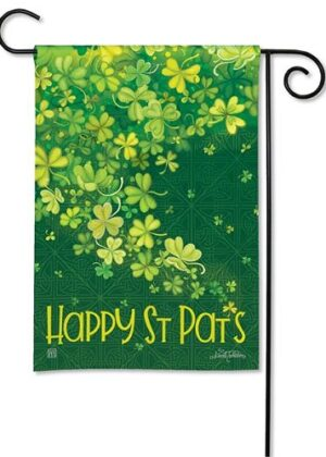 Shamrock Shower Garden Flag | St. Patrick's Day Flags | Yard Flags | Flag