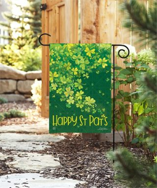 Shamrock Shower Garden Flag | St. Patrick's Day Flags | Cool Flags