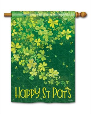 Shamrock Shower House Flag | St. Patrick's Day Flags | Yard Flags | Flags