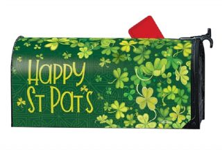 Shamrock Shower Mailbox Cover | Mailbox Covers | Decorative Mailwraps