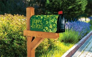 Shamrock Shower Mailbox Cover | Mailbox Covers | Mailwraps