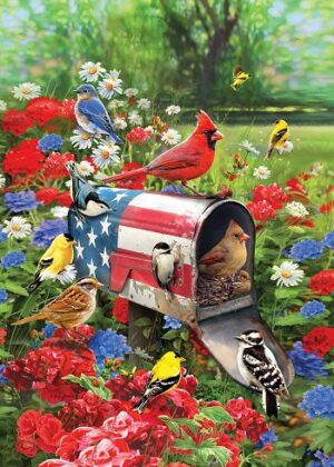 Songbirds Mailbox Flag | Spring Flags | Floral Flags | Cool Flags | Bird Flag