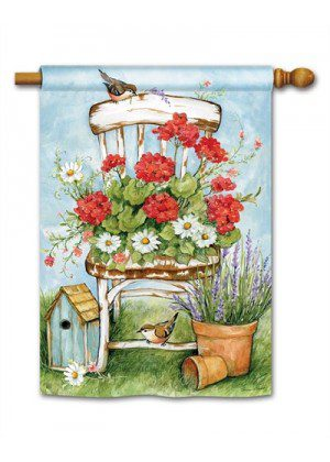 Summer Garden House Flag | Spring Flags | Bird Flags | Floral Flags