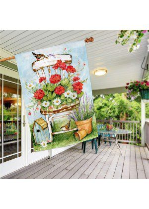Summer Garden House Flag   Spring Flags   Welcome Flags   House Flags
