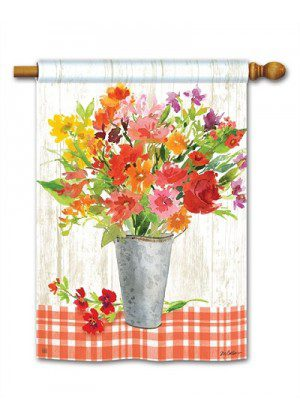Summer Mix House Flag | Summer Flags | Floral Flags | Yard Flags | Flags