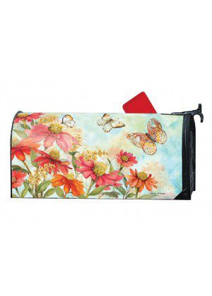 Summer Zinnias Mailbox Cover | Decorative Mailwraps | Mailbox Covers
