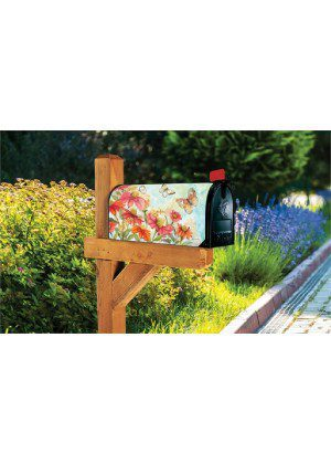 Summer Zinnias Mailbox Cover | Decorative Mailbox Cover | Mailwraps