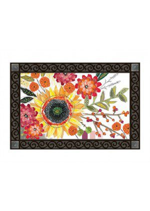 Sunflower Snippets Doormat | Doormats | MatMates | Decorative Doormats