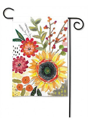 Sunflower Snippets Garden Flag | Floral Flags | Spring Flag | Yard Flags