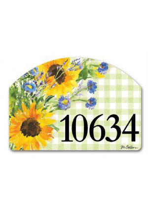 Sunflowers on Gingham Yard Sign | Yard Signs | Address Plaques | Signs