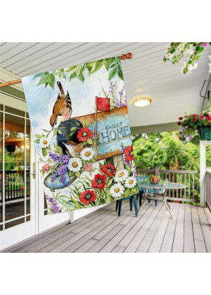 Sweet Home House Flag   Spring Flags   Floral Flags   Bird Flags   Flags