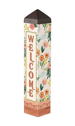 Terra Flora Art Pole | Garden Decor | Art Poles | Peace Poles | Yard Poles