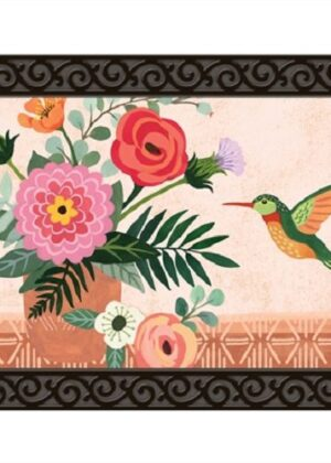 Terra Flora Hummingbird Doormat | Mat | MatMates | Decorative Doormats