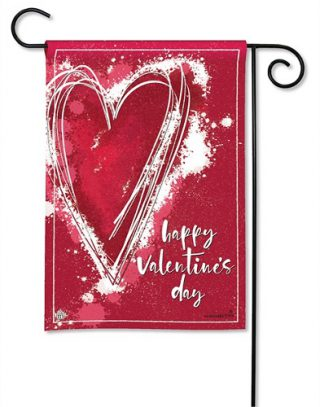 Valentine Heart Garden Flag | Valentine's Day Flags | Yard Flags | Flags