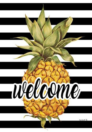 Welcome Pineapple Flag | Summer Flags | Two Sided Flag | Welcome Flag