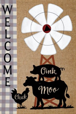 Windmill Stack Flag | Burlap Flags | Welcome Flags | Double Sided Flags
