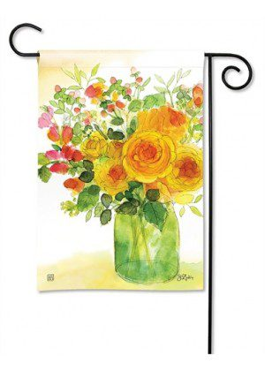 Yellow Roses Garden Flag | Floral Flags | Spring Flags | Yard Flags | Flags