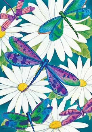 Dragonflies & Daisies Flag | Spring Flags | Floral Flags | Cool Flags | Flags