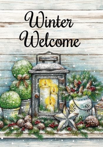 Warm Winter Welcome Flag | Winter Flag | Welcome Flag | Two-Sided Flag