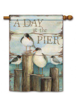 Bay Pier House Flag | Summer Flag | Nautical Flags | Bird Flag | Cool Flag