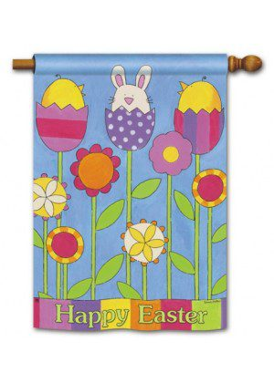 Easter Garden House Flag | Easter Flags | Cool Flags | Yard Flags | Flags