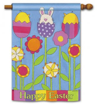Easter Garden House Flag   Easter Flags   Cool Flags   Yard Flags   Flags