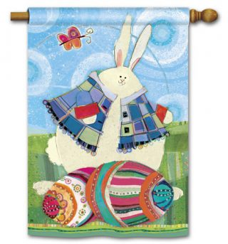 Funny Bunny House Flag | Easter Flags | Cool Flags | Yard Flags | Flags